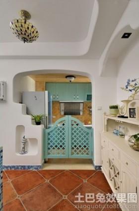 地中海风格厨房隔断门装修效果图