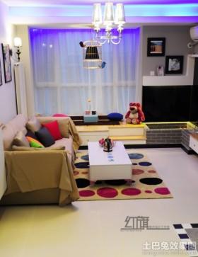 现代简约70平米小户型客厅效果图