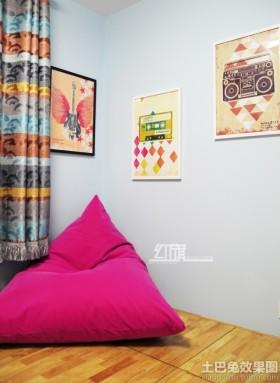 宜家风格墙上挂画装饰效果图片
