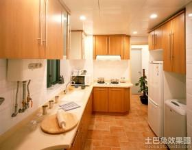 宜家风格L型厨房装修效果图