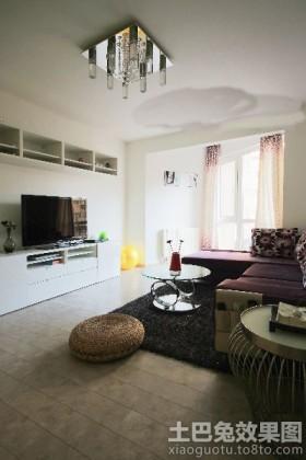 现代二居客厅电视柜效果图