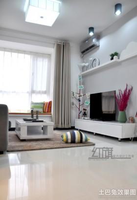 现代70平米小户型电视墙效果图