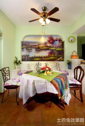 森林系地中海餐厅彩绘背景墙效果图