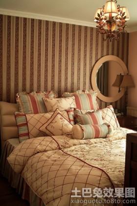 宜家美式70平米小户型卧室壁纸图片