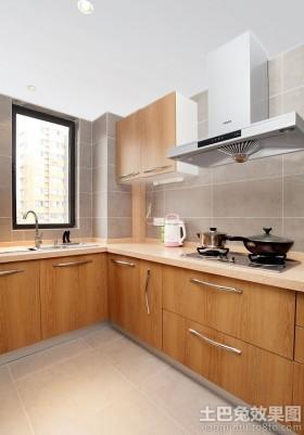 宜家厨房实木橱柜效果图片