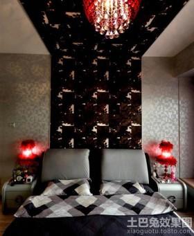 主卧室床头背景墙造型设计
