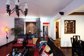 混搭中式风格140平米三居室装修效果图