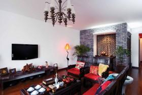 混搭中式客厅装修效果图欣赏