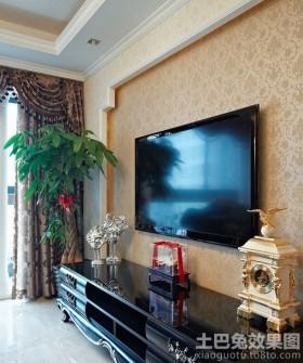90平米二居壁纸电视背景墙效果图