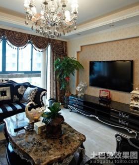新古典风格电视背景墙欧式新古典壁纸电视背景墙效果