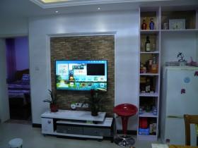 混搭风格小户型客厅背景墙装修效果图
