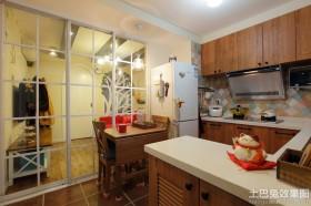 小平米装修效果图厨房餐厅一体