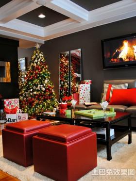 客厅圣诞树装饰