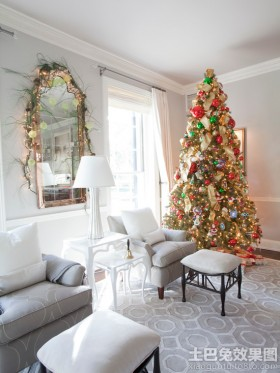北欧风格客厅圣诞树图片