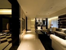 现代风格30平米复式客厅装修效果图