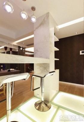 简约家庭吧台装修设计效果图