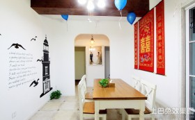 婚房餐厅气球布置效果图