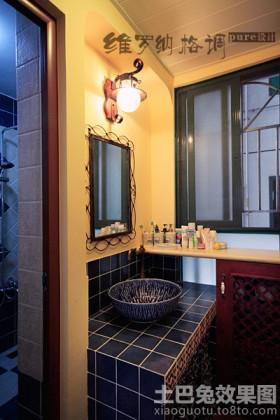 地中海风格洗手间镜前灯效果图