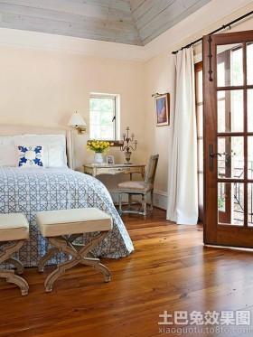 二居室卧室床尾凳效果图