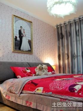 婚房卧室墙纸效果图