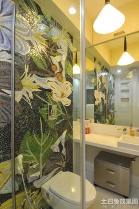 卫生间马赛克背景墙效果图大全