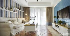 地中海风格客厅室内装修效果图