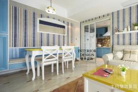 清新地中海风格餐厅装修效果图片