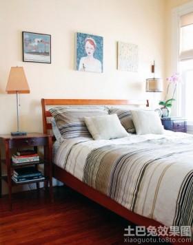 简约复古三居卧室装修效果图