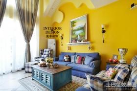 地中海风格小客厅装饰效果图片