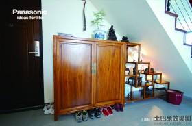 中式风格实木鞋柜效果图