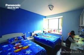 蓝色双人儿童房装修效果图