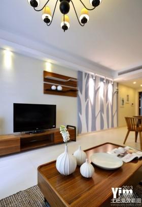 简约风格两室一厅电视背景墙效果图