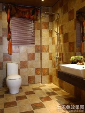 家庭卫生间瓷砖搭配效果图欣赏