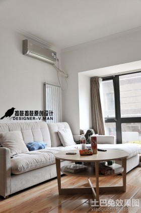 简约80平米二居客厅沙发茶几效果图