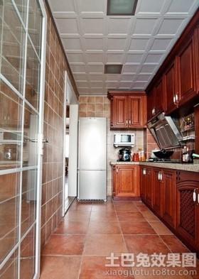 混搭二居整体厨房集成吊顶效果图