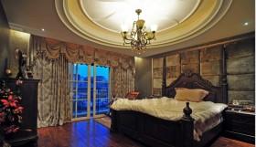 四居室欧式卧室圆形大吊顶装修效果图