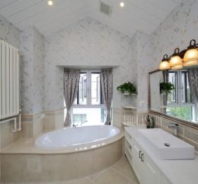 混搭风格卫生间浴池装修效果图