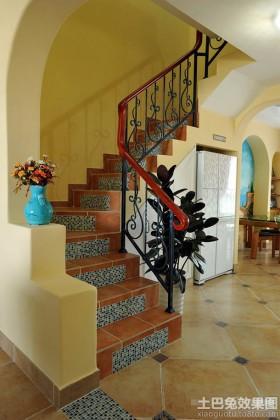 地中海风格室内扶手梯效果图