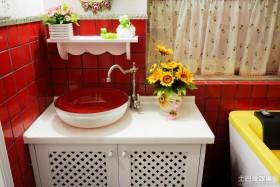 田园风格洗手盆效果图
