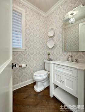 家庭卫生间墙纸效果图