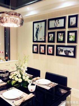 婚房餐厅照片墙效果图