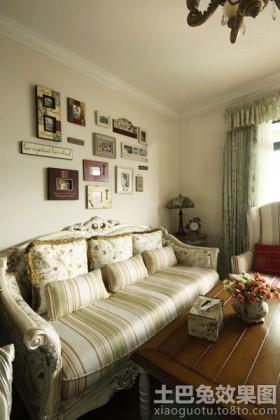 田园风格客厅照片墙效果图