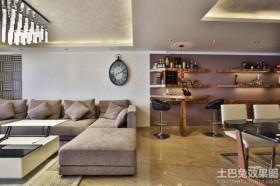 简约二居室室内装潢设计效果图