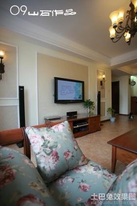 美式装修风格两室两厅效果图