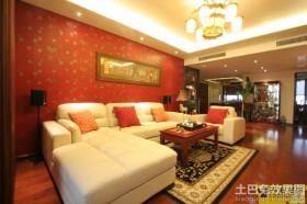 中式现代100平米两室两厅装修效果图