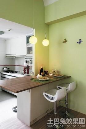 田园小户型厨房吧台图片