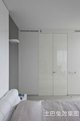 卧室双开门衣柜效果图