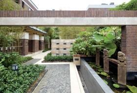 中式简约入户花园装修效果图