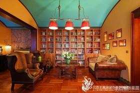 中式混搭民族风格书房家具效果图
