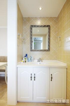 欧式风格洗手台洗手间瓷砖装修效果图大全